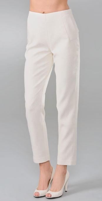 Chris Benz Skinny Silk Pants