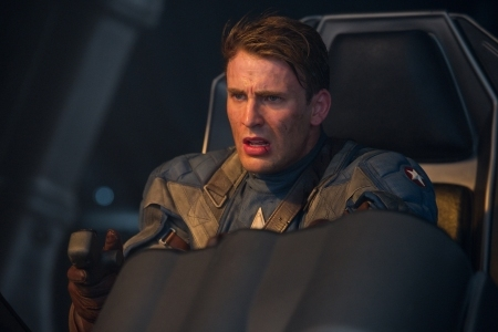 Chris Evans in a scene from Captain America