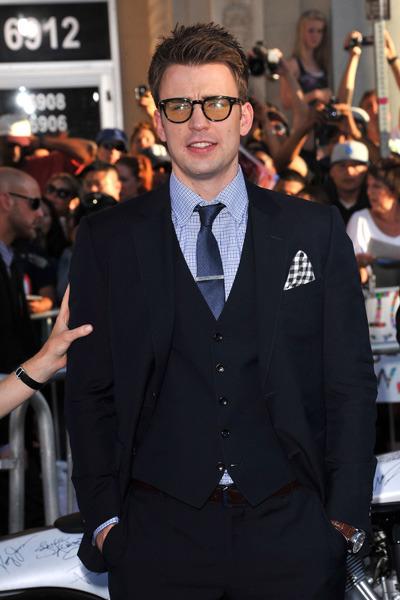 Chris Evans at the Captain America premiere