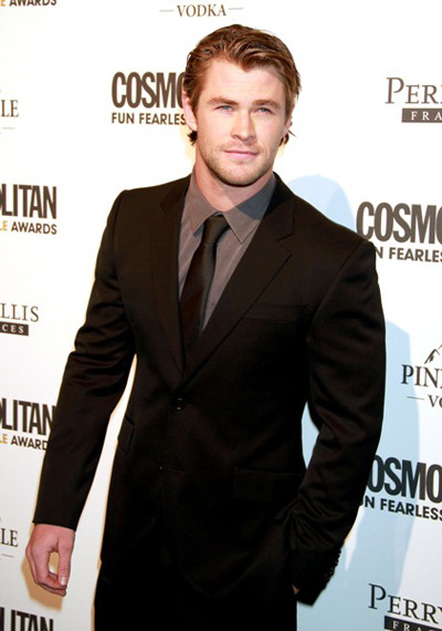 Chris Hemsworth Cosmopolitan Fearless Males of 2011 party