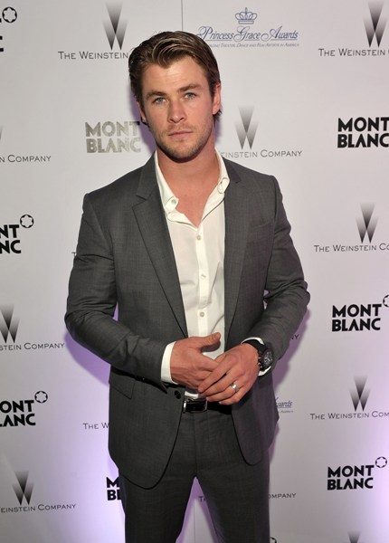 Chris Hemsworth cleans up nice
