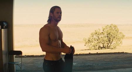 A still shot of Hemsworth