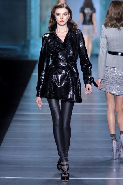 Christian Dior Black Snake Skin Rain Coat