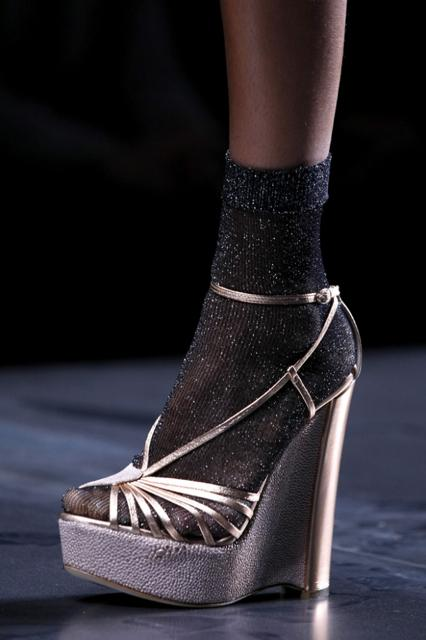 Christian Dior Pewter Platform Heels