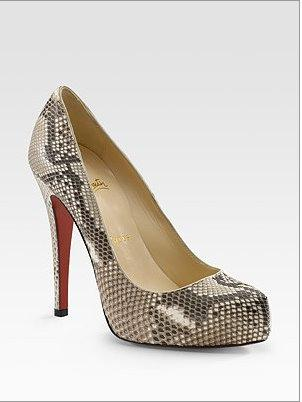 Christian Louboutin python pumps