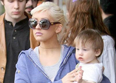 Christina Aguilera is photographed with Max