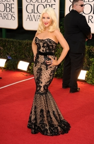 christina aguilera 2011 golden globes. 68th Golden Globe Awards