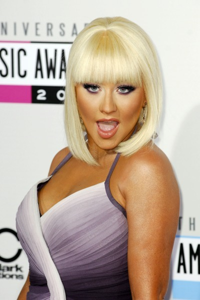 Christina Aguilera at the 2012 AMA's.