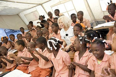 Christina Aguilera Visits Haiti