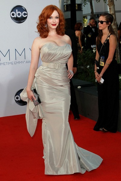 Christina Hendricks at the Emmys.