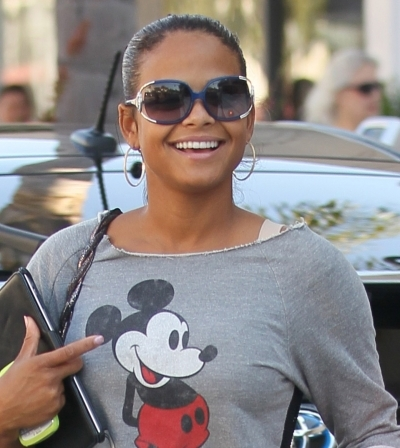 Christina Milian&#039;s ponytail