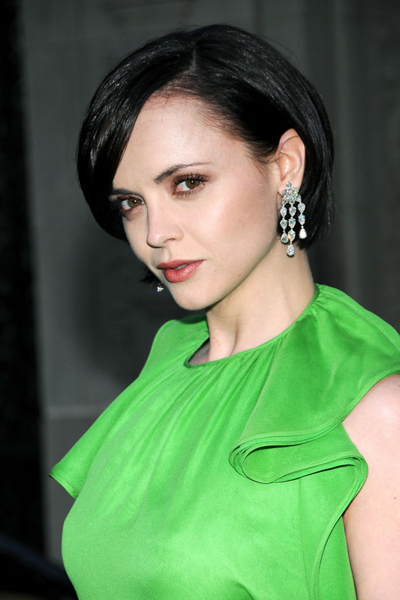 Christina Ricci's short and sexy hairstyle