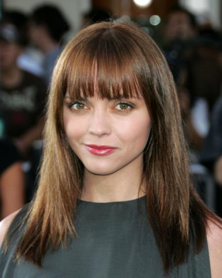 Christina Riccis Long Straight Hair with Bangs