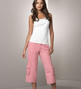 Christopher Blue Cropped Pants