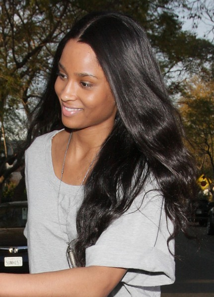 Ciara's super long hairstyle