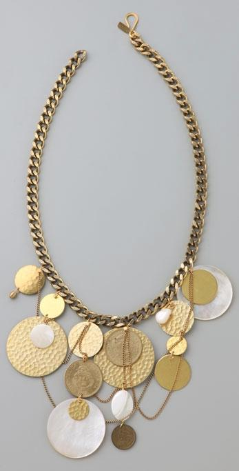 Citrine by the Stones Coin Necklace