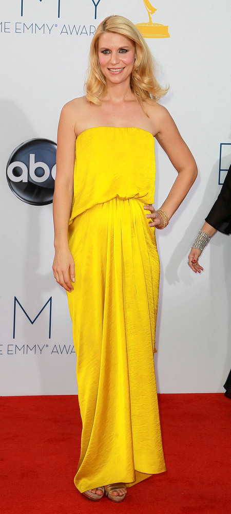 Claire Danes on the red carpet at the Emmys.