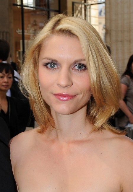Claire Danes' chic, blonde hairstyle
