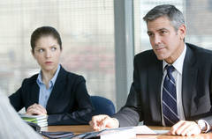 """George Clooney stars with Anna Kendrick in """"Up In The Air"""""""