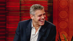 George Clooney is all smiles on Live!
