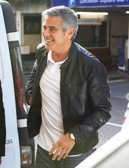 George Clooney arrives at the Odeon Leicester Square