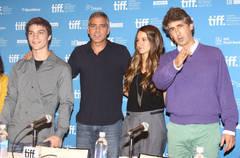 "George Clooney promoting ""The Descendants"" in Toronto"