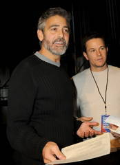 George Clooney and Mark Wahlberg at Hope For Haiti