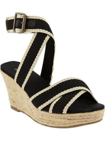 Canvas-Strap Mid-Wedges