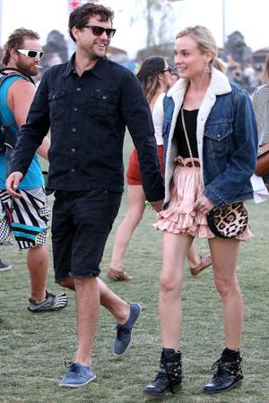 Diane Kruger and Joshua Jackson at Coachella 2013