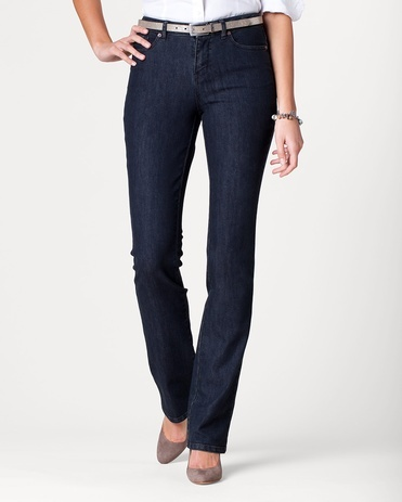 Denim Curvy Mini Bootcut Jeans