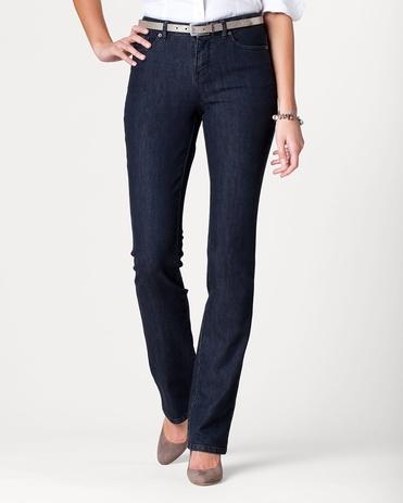 Denim Curvy Mini Bootcut Jeans