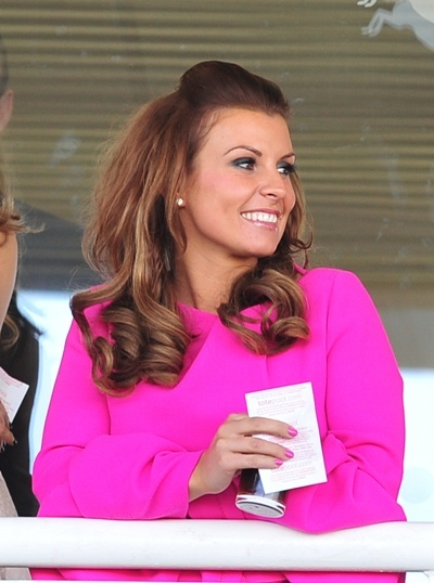 Coleen Rooney off to the races