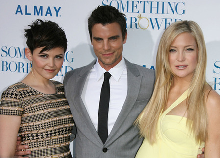 Colin Egglesfield , Kate Hudson and Ginnifer Goodwin at Something Borrowed premiere