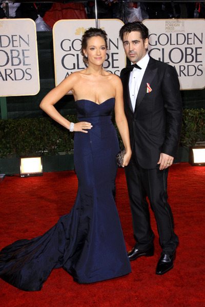 Colin Farrel at the Golden Globes