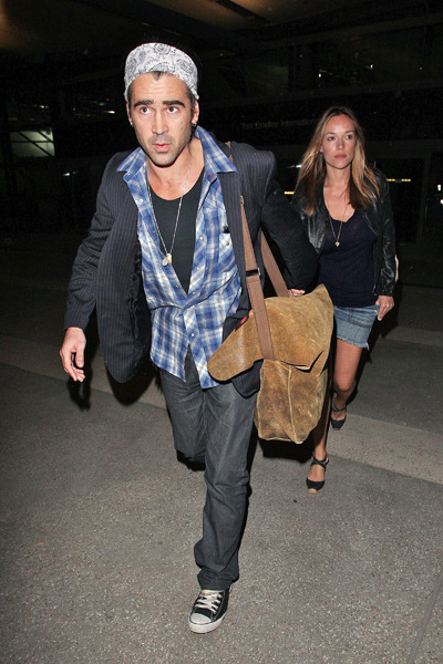 Colin Farrell at LAX airport