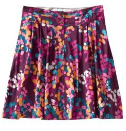 Voile Floral-Print Pleated Skirts
