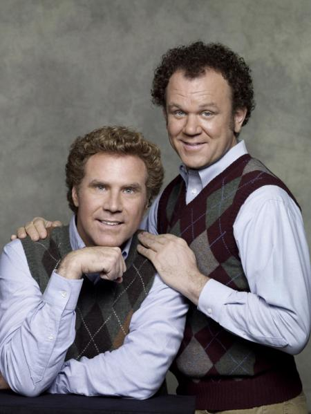 Actors Will Ferrell and John C. Reilly pose