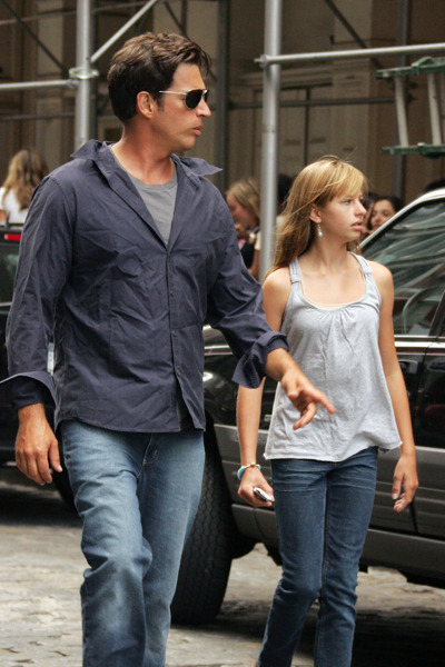 Harry Connick Jr. and his daughet in NYC.