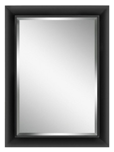 Contemporary Black-Framed Mirror