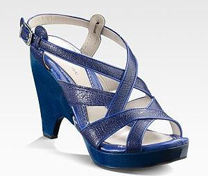 Costume National Blue Open Toe Sandals