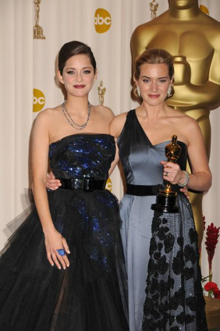 Marion Cotillard and Kate Winslet at the 2009 Oscars