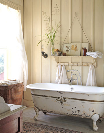 Country farmhouse bathroom - Country cool décor