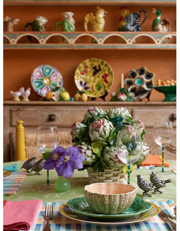 Colorful French country kitchen - Country cool décor