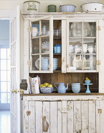 Rustic country cupboards
