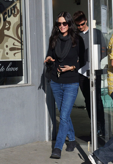 Courteney Cox leaves a store on Melrose Avenue in LA