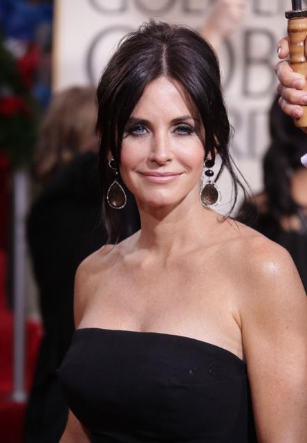 Courtney Cox Arquette's elegant updo hairstyle