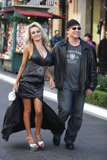 Courtney Stodden and Doug Hutchison seen at The Grove