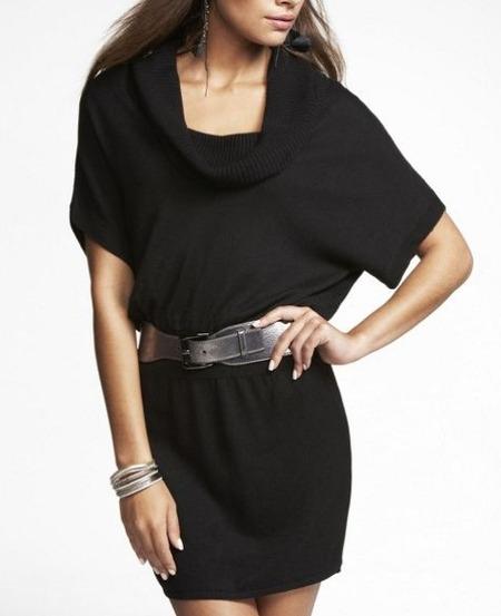 Cowl Neck Sweater Dress
