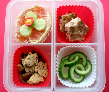 Cucumber Chains bento box lunch