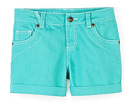 Bright denim shorts
